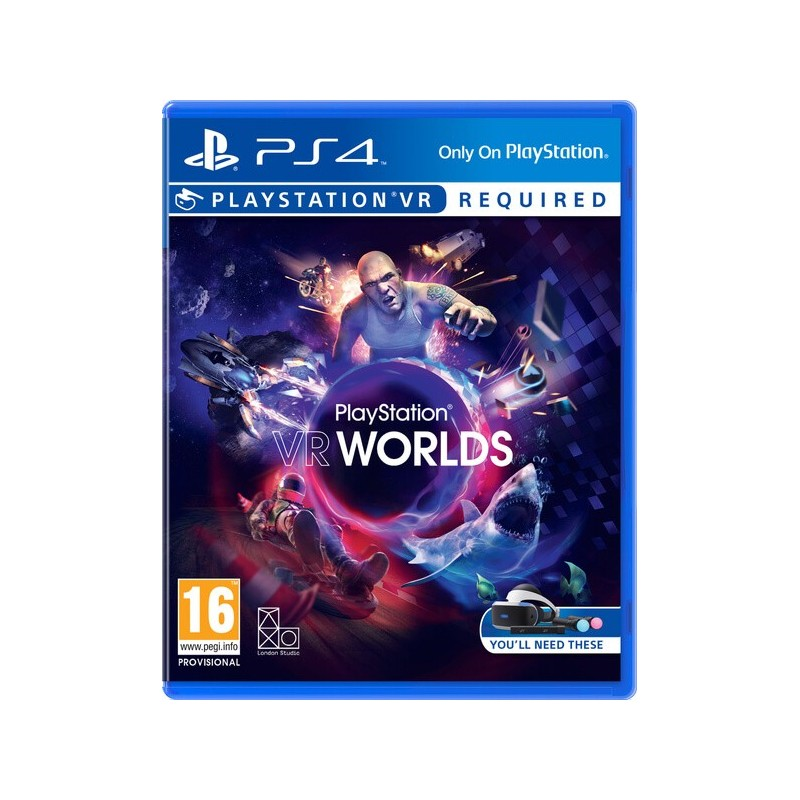 Sony PlayStation VR + PS Camera v2 + VR Worlds Game