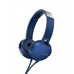 Sony MDR-XB550AP Head-band Binaural Wired Blue mobile headset