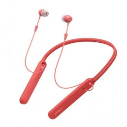 Sony WI-C400 In-ear, Neck-band Binaural Wireless Red mobile headset