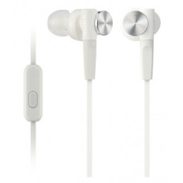 Sony MDR-XB50AP In-ear Binaural Wired White mobile headset