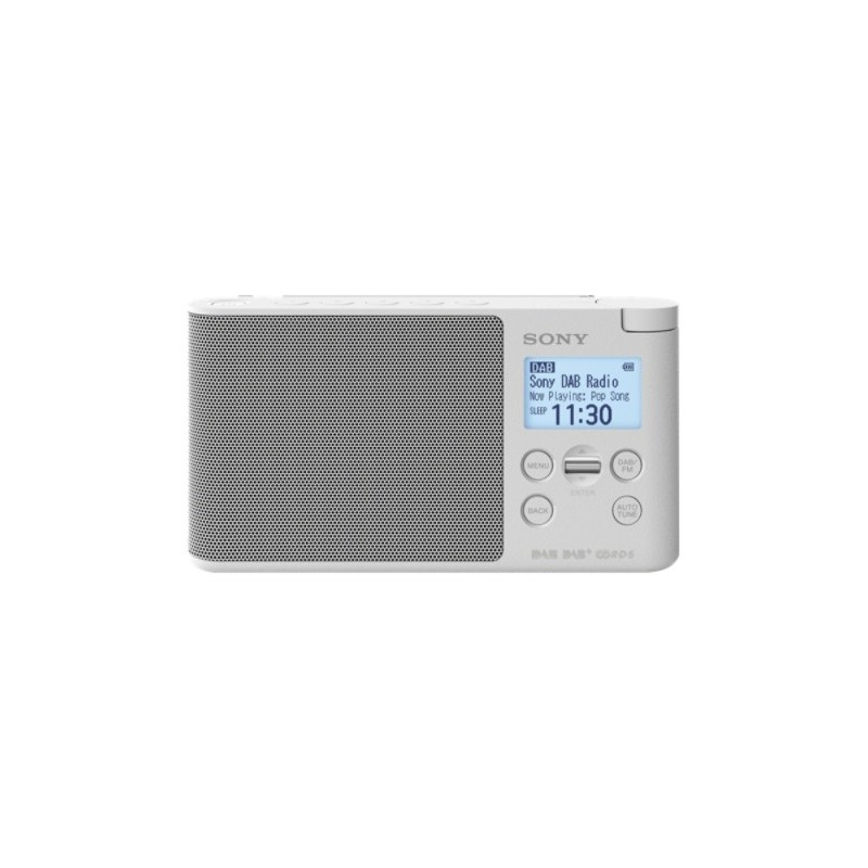 Sony XDR-S41D radio Portable Digital White