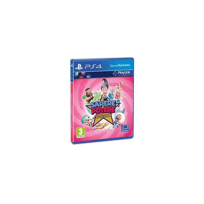 Sony Knowledge is Power  Decades, PS4 video game PlayStation 4 Basic English, Italian